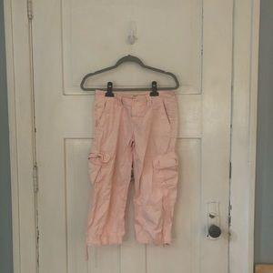 Express Light Pink Cargo Crop Size 2 Pants